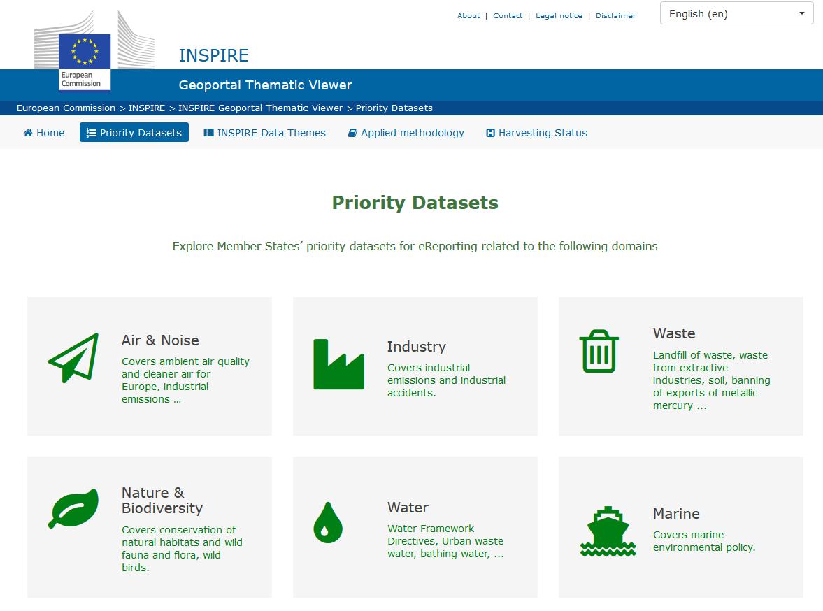 INSPIRE Priority datasets: new metadata keywords | INSPIRE